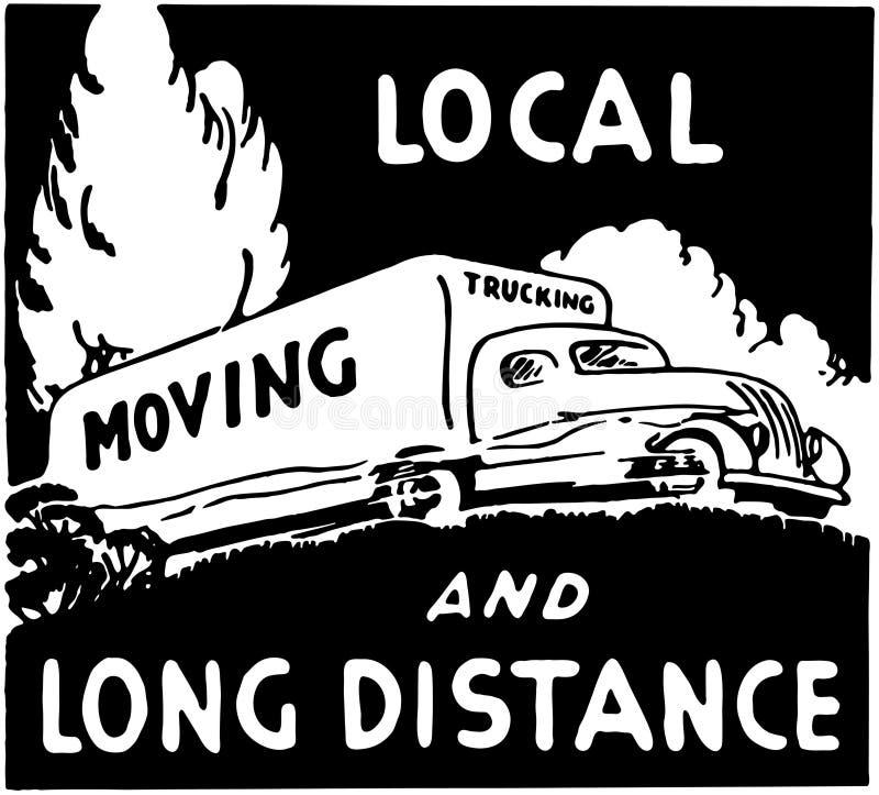 moving vektor illustrationer