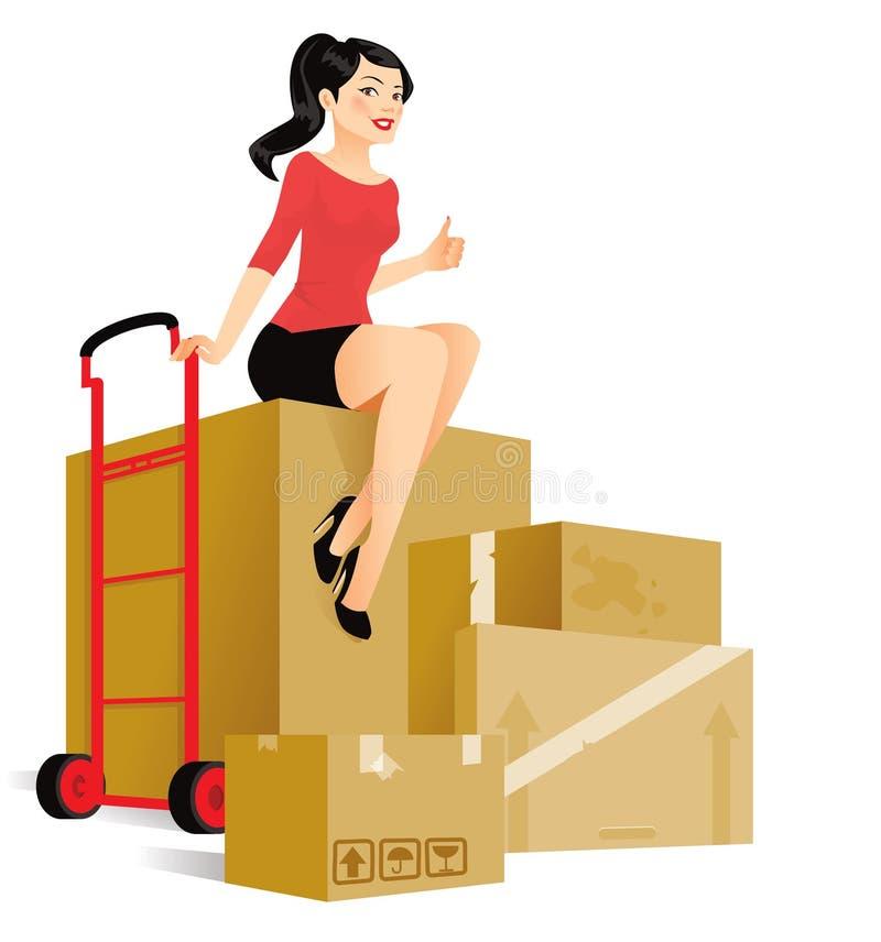 moving royaltyfri illustrationer