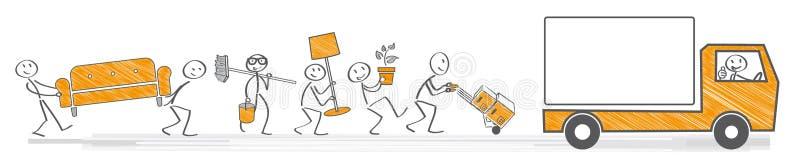 Moving allowance illustration royalty free illustration