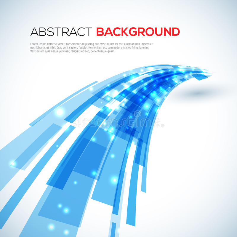 Moving blue abstract background royalty free illustration