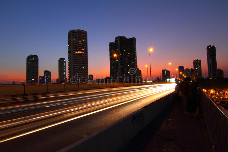 Moving blur light of traffic royalty free stock photo