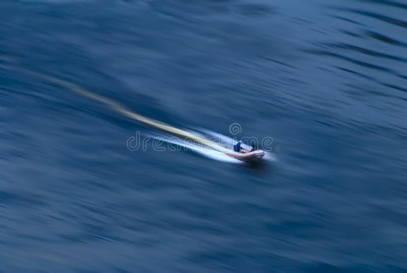 Moving Boat Royalty Free Stock Photo