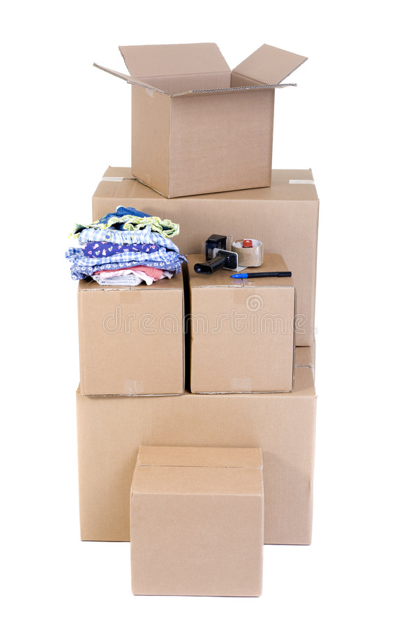 Download Moving Boxes stock photo. Image of tape, lifestyles, packing - 3175296