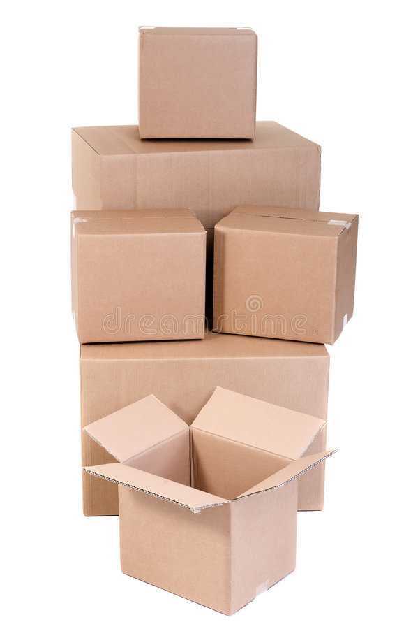 Download Moving Boxes stock image. Image of change, transportation - 3175299