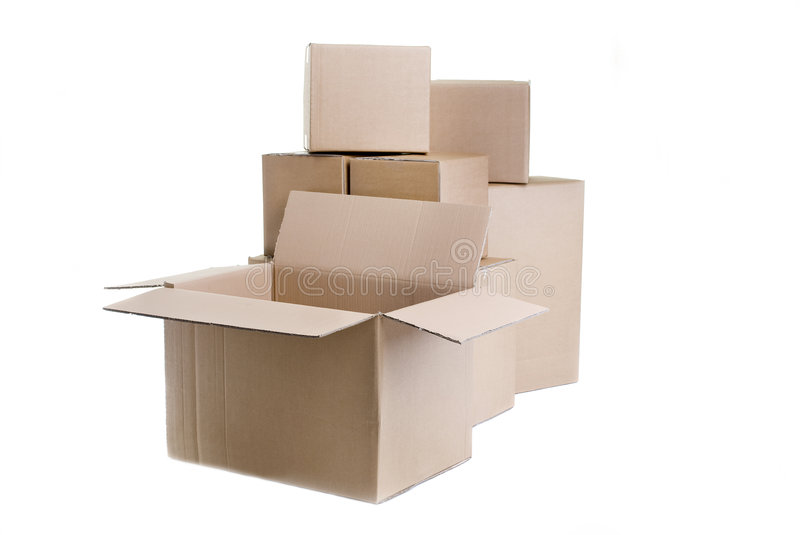 Download Moving boxes stock photo. Image of packing, empty, relocation - 4401944
