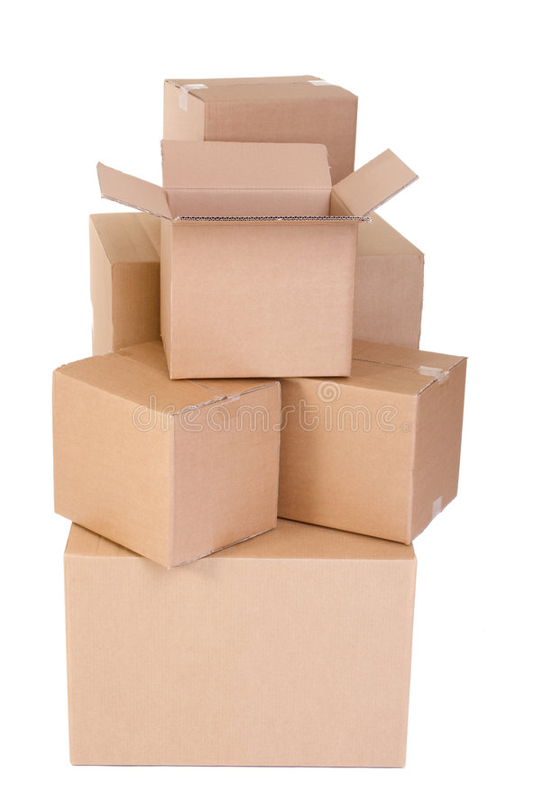 Moving Boxes stock image