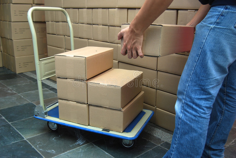 Download Moving boxes stock image. Image of admire, caressing, work - 7343517