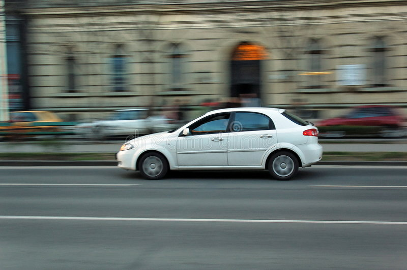 Moving car stock photography