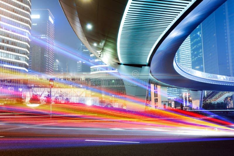 Moving car with blur light stock photos