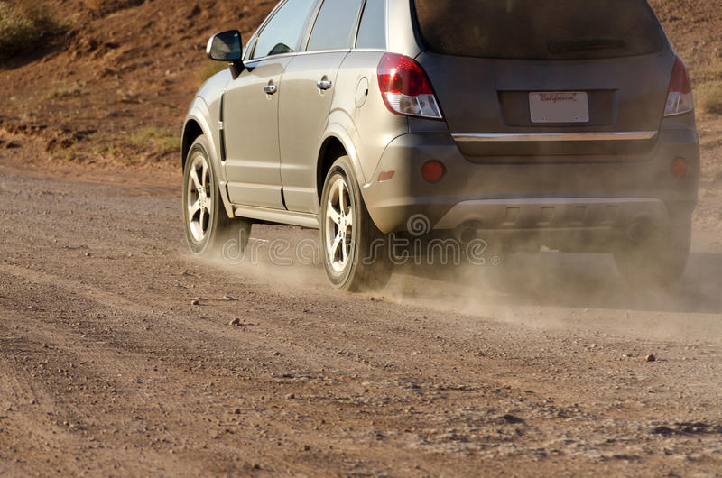 Moving cars in Monument Valley stock images