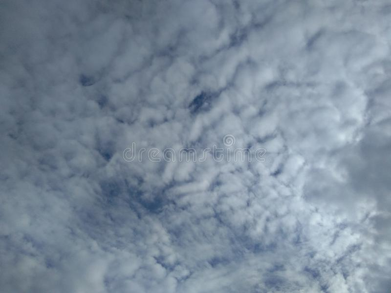 Moving clouds royalty free stock photography