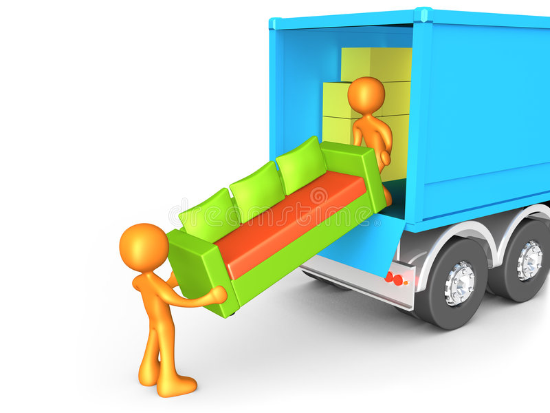 Download Moving Company stock illustration. Illustration of characters - 4845377
