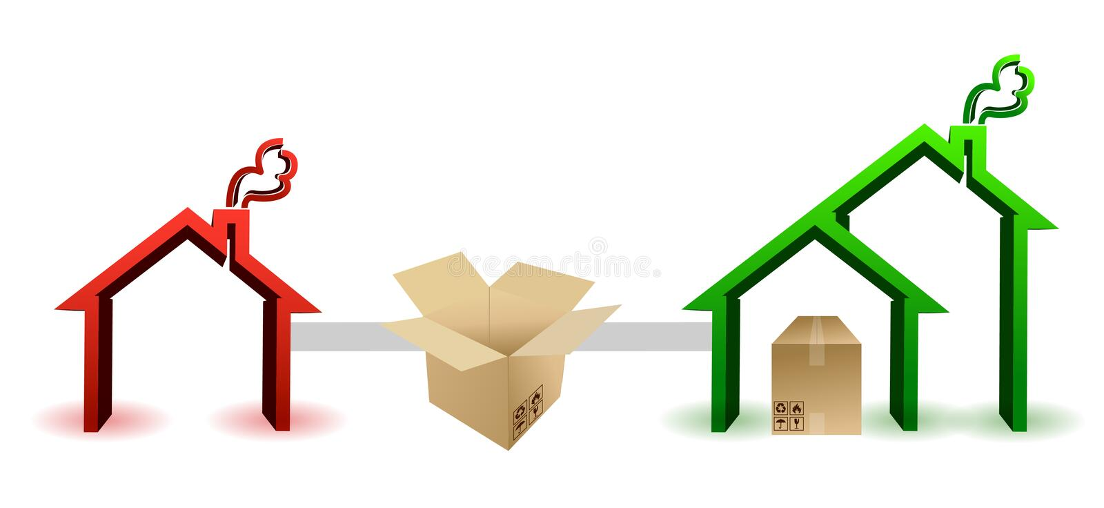 Moving concept vector illustration