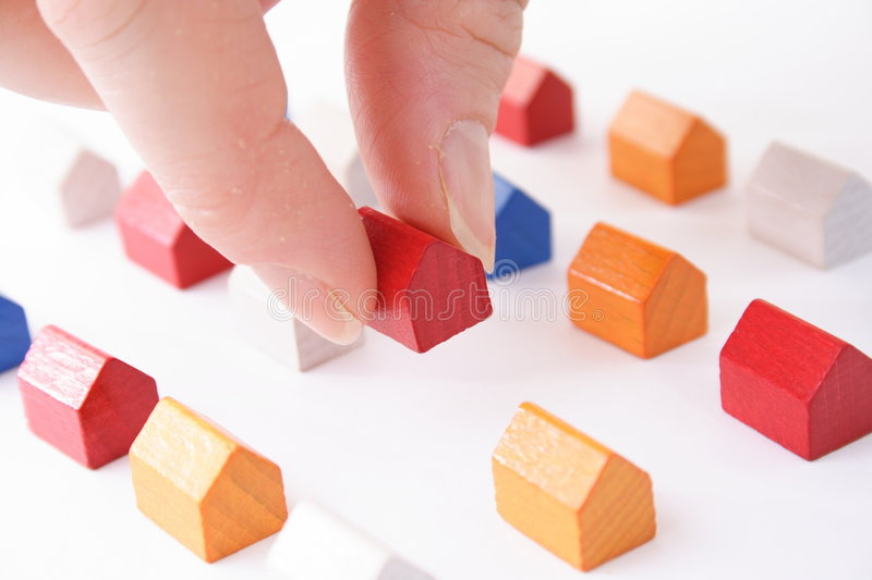Moving in concept stock images