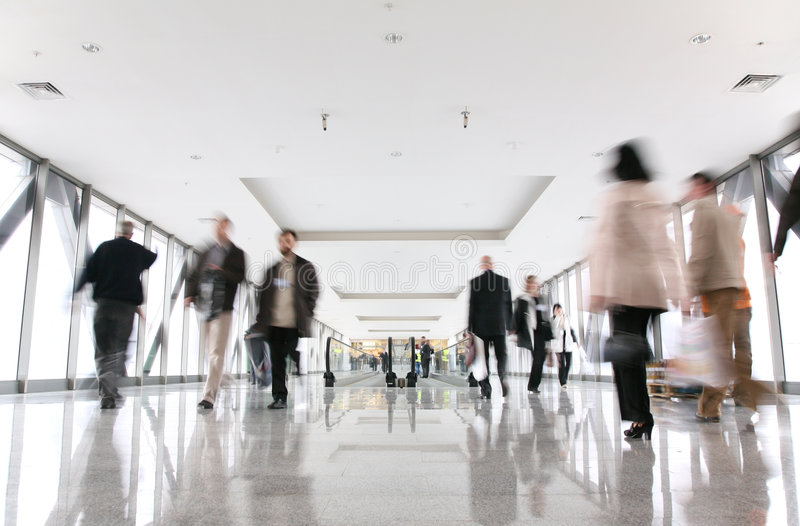 Moving crowd royalty free stock photography