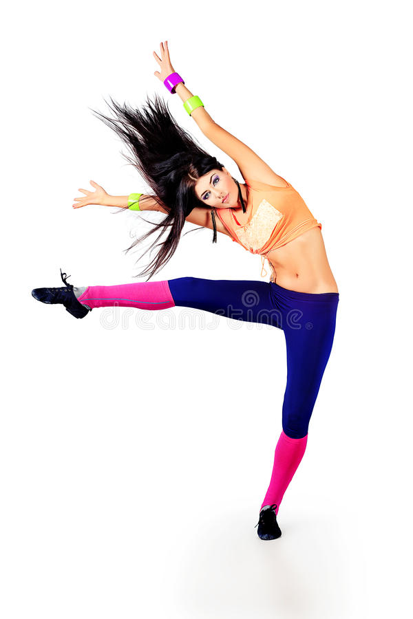 Moving dancer stock image