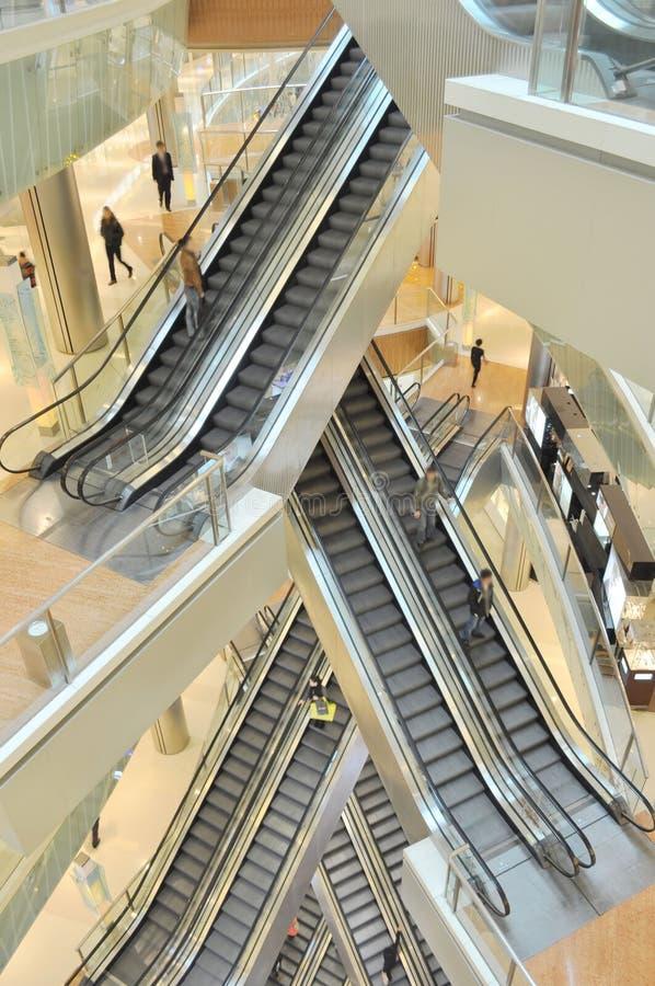 moving escalators royalty free stock photography