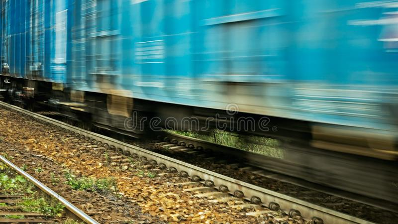 Moving Freight Train. royalty free stock photos
