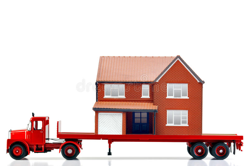Moving home stock image