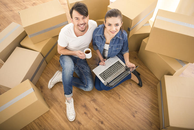 Moving home royalty free stock photos