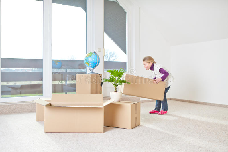 Moving house stock image