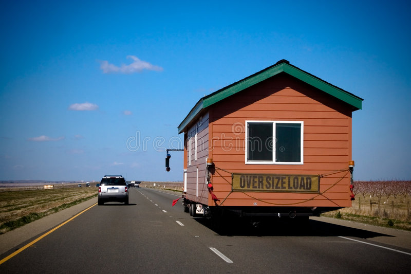Moving house. On A Highway