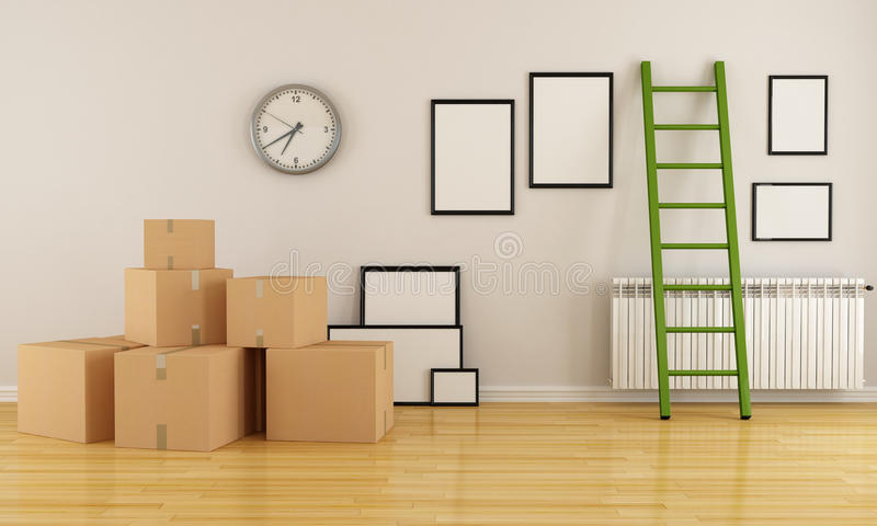 Moving house stock illustration