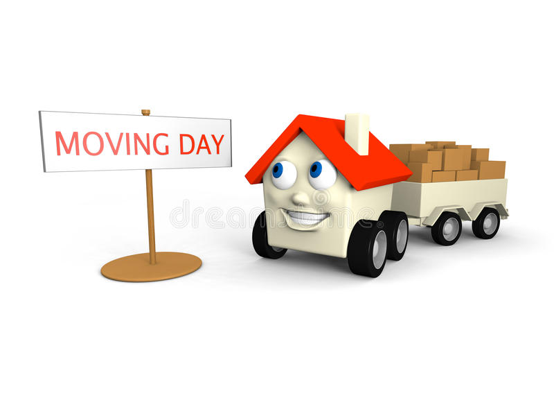 Download Moving house stock illustration. Image of face, movers - 23181546