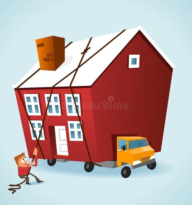 Moving hus stock illustrationer