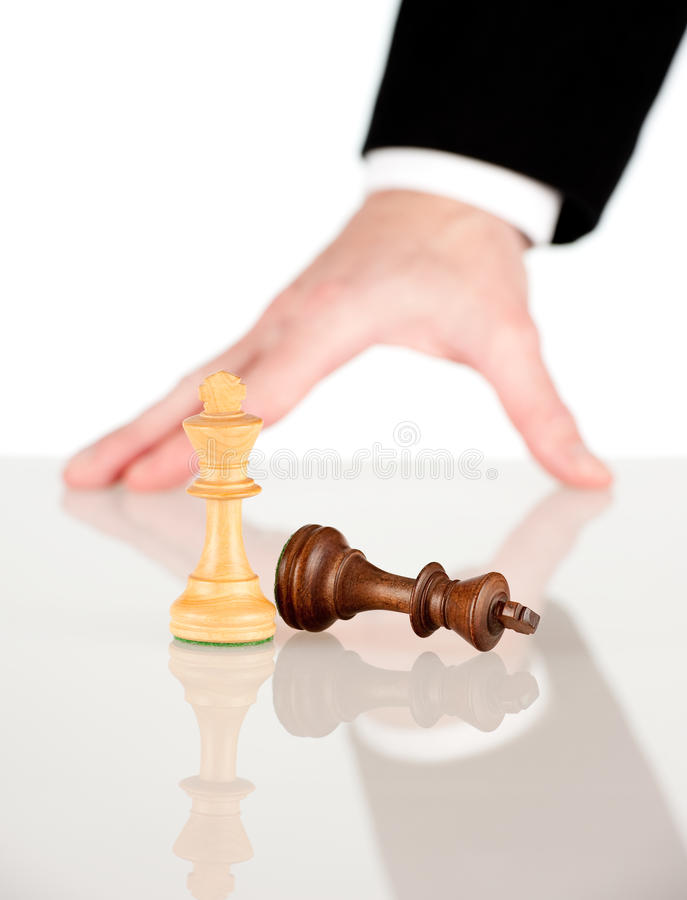 Download Moving the king to win stock image. Image of chess, figure - 23624979