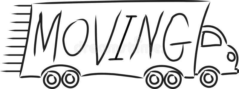 moving lastbil royaltyfri illustrationer
