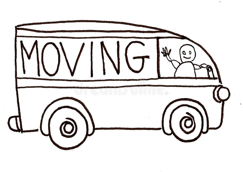 moving lastbilvektor vektor illustrationer
