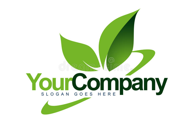 Moving Logo Leaf. An illustration of a logo representing eco logo leafs and swash behind it