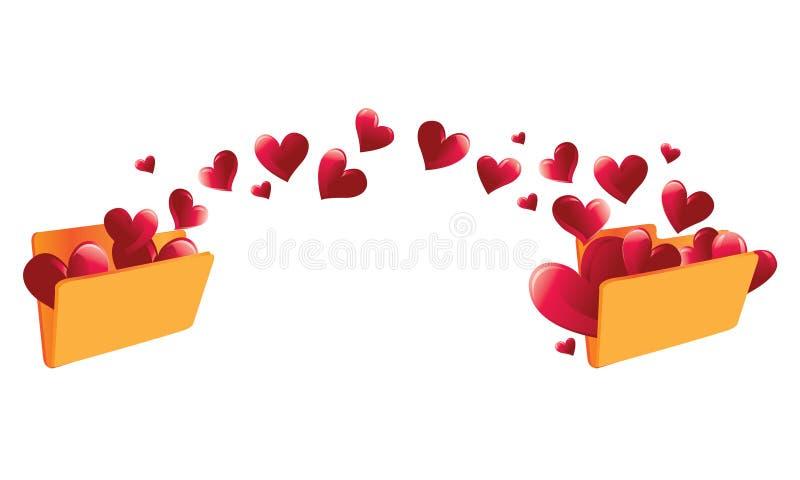 Download Moving Love Folder stock vector. Illustration of beautiful -  8112860