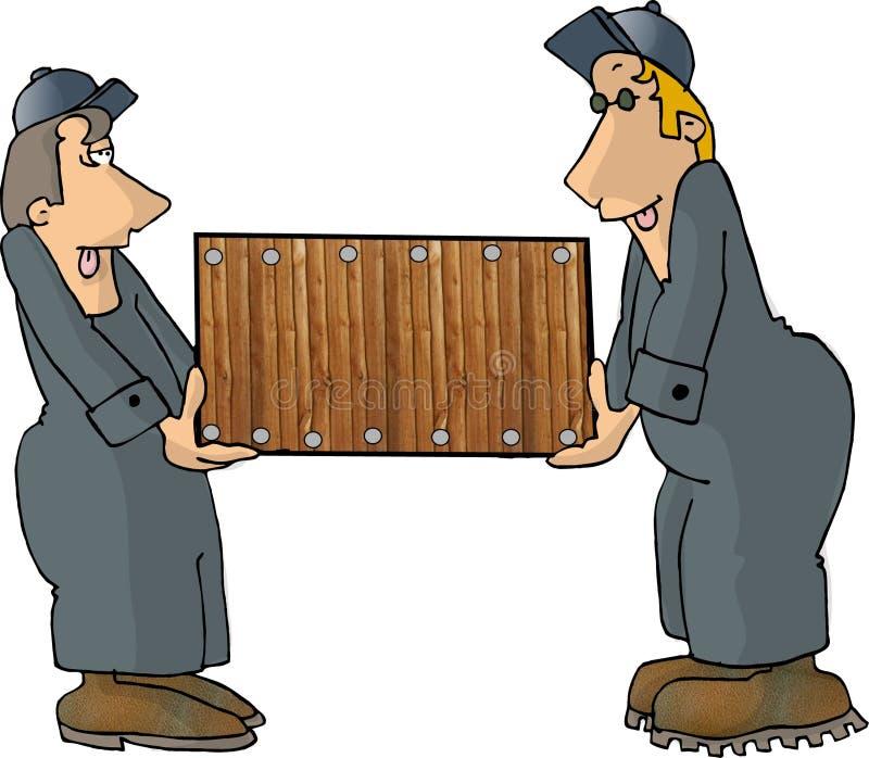 Download Moving men stock illustration. Illustration of wooden, lifting - 58418