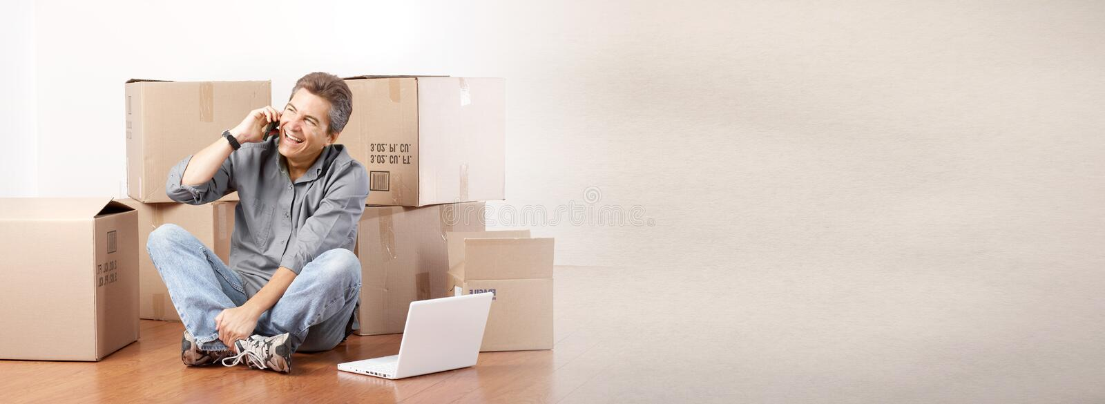 moving stock foto