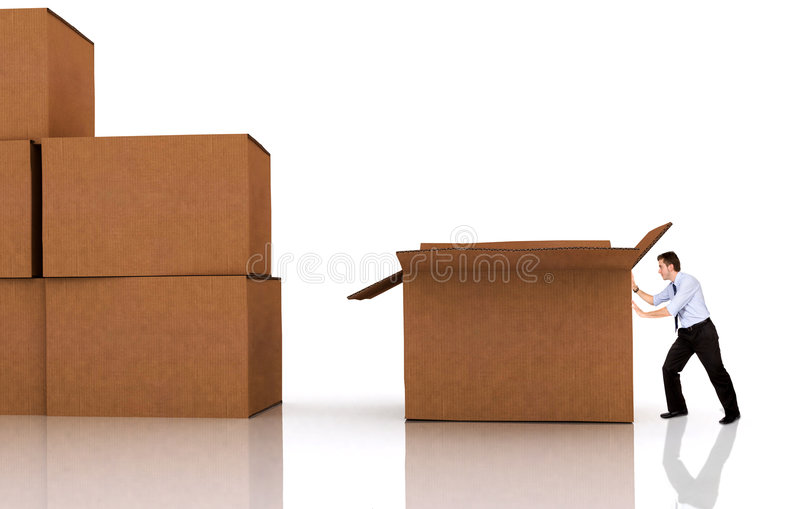 Download Moving offices stock illustration. Illustration of delivery - 4409292