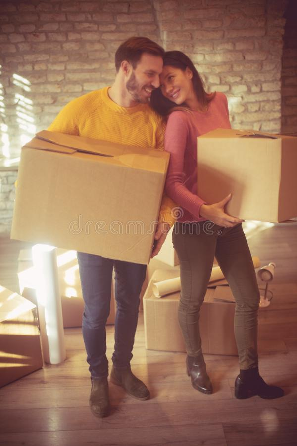 Moving into our new home royalty free stock photo