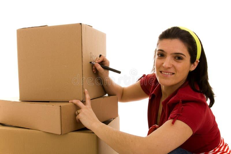 moving packar för hus arkivbilder