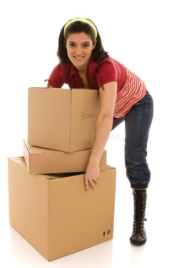 moving packar för hus arkivfoton