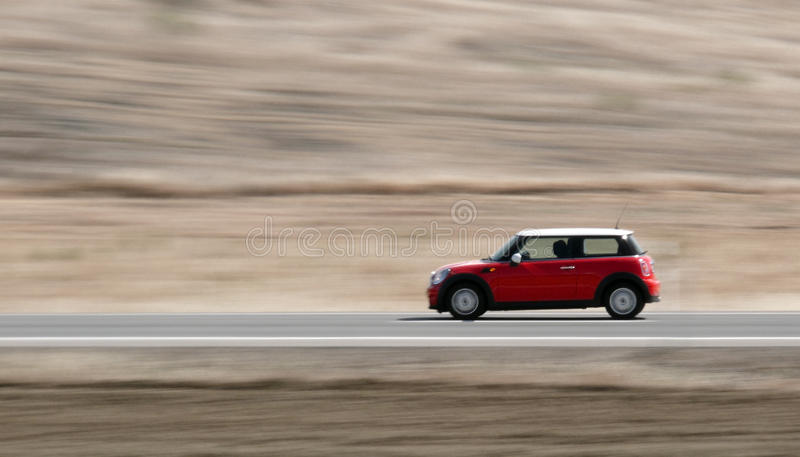 Download Moving red car stock photo. Image of power, modern, beauty - 26597514