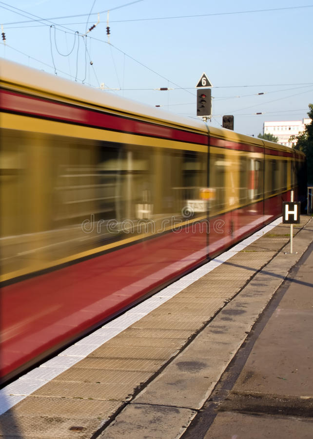 Download Moving S-Bahn in Berlin stock photo. Image of getaway - 16268370
