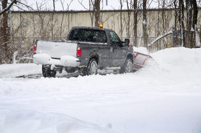 Moving snow job royalty free stock photos