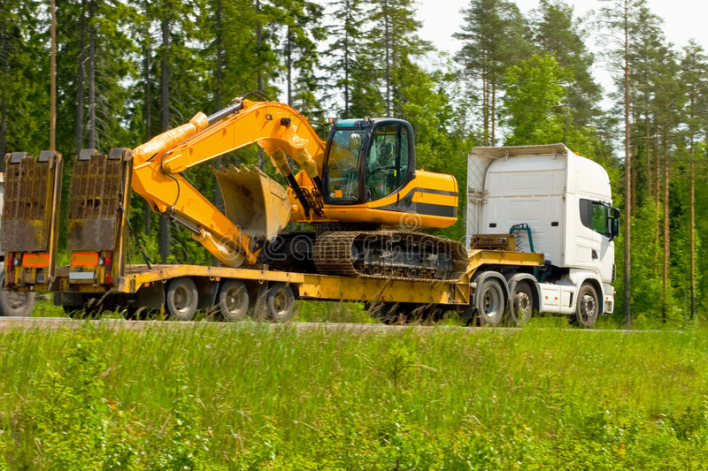 Moving in some machinery royalty free stock photos