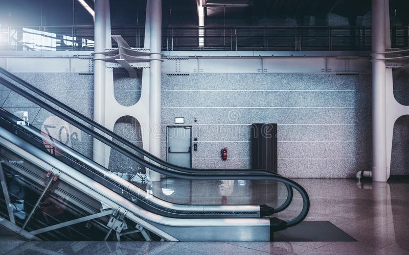 Download Moving Staircase Indoors Of Airport Or Shopping Mall Stock Photo    Image Of Shopping,
