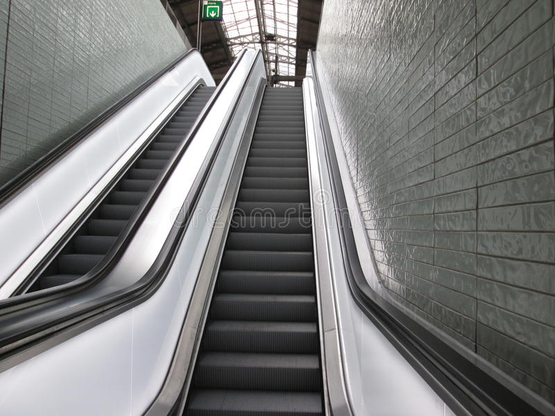 Moving staircase royalty free stock images