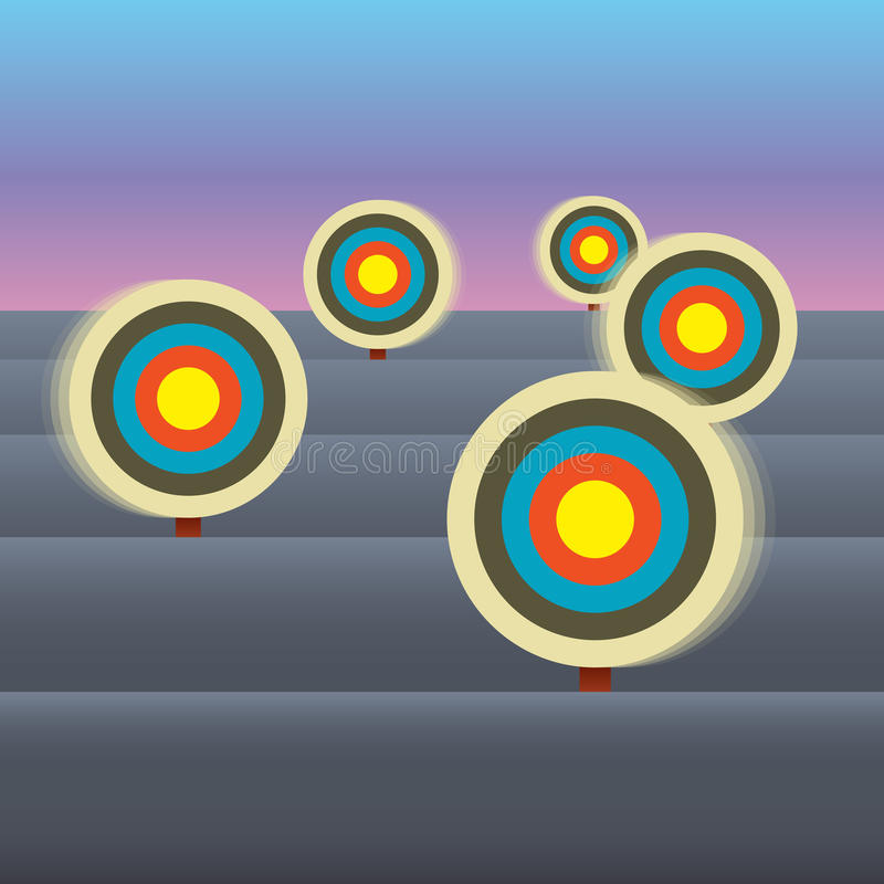 Moving Targets Royalty Free Stock Images