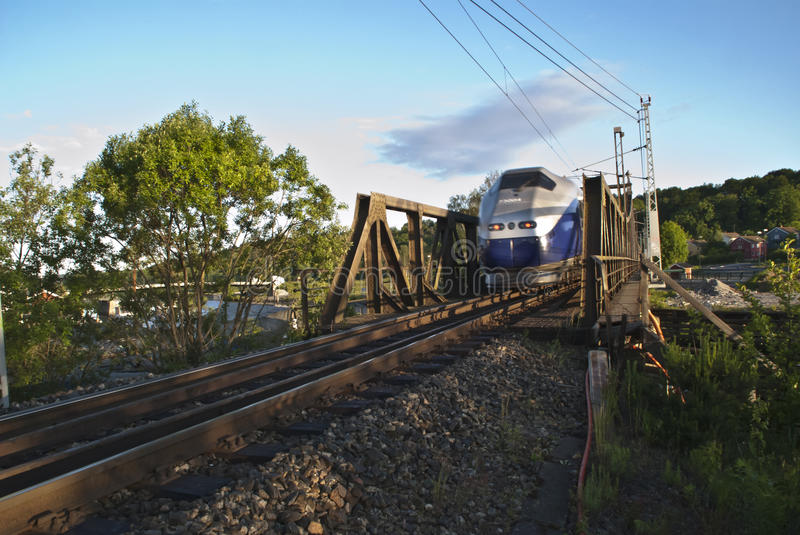 Download Moving train stock image. Image of oslo, precision, getaway - 25207357