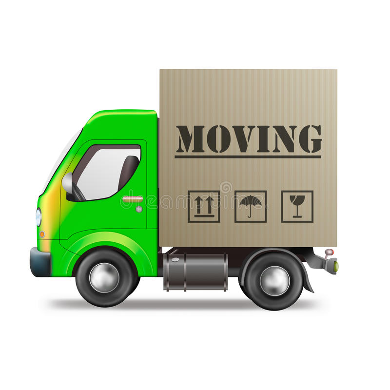 Free Moving Truck House Relocation Van Royalty Free Stock Images - 19255349
