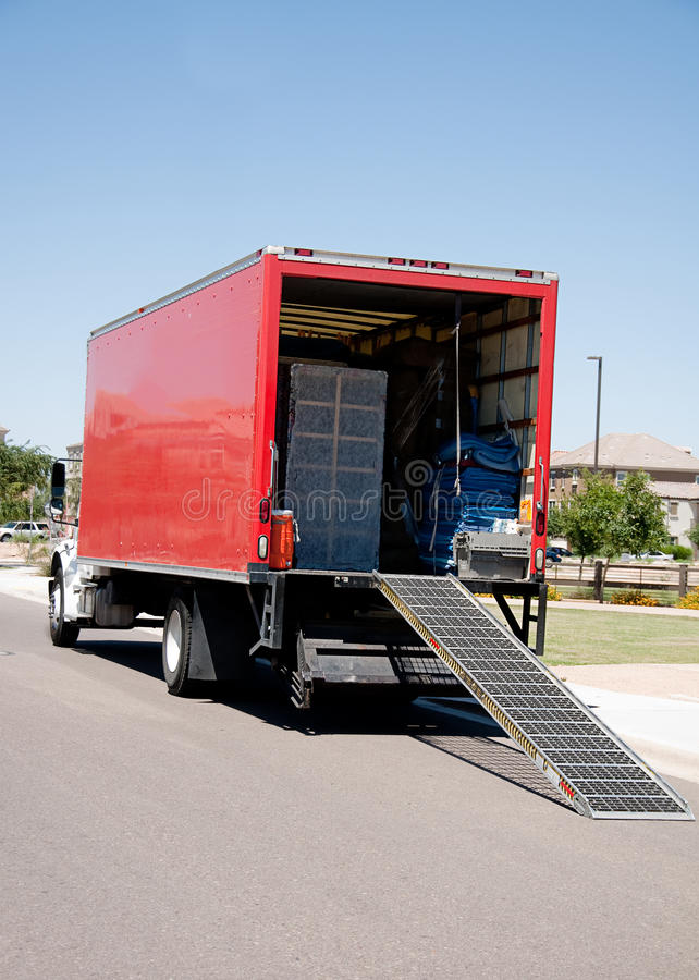 Free Moving Truck Relocation Service Royalty Free Stock Photos - 14248278